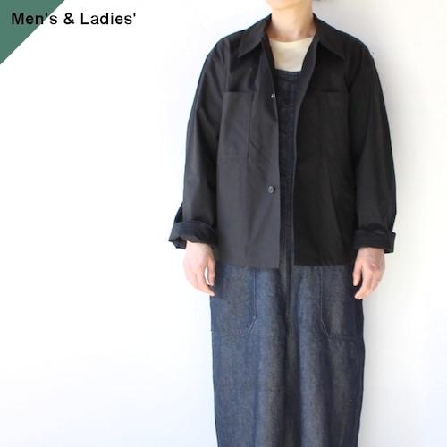 【ラスト1点】THE HINOKI ザヒノキ Short Shirt Jacket オーガニックコットンウェザーシャツジャケット BLACK
