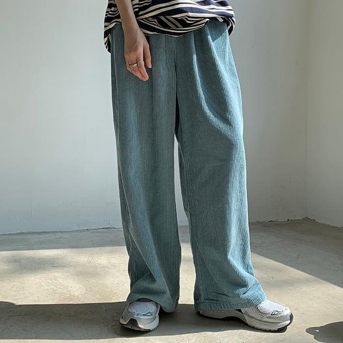 Smoke blue corduroy pants(スモークブルーコーデュロイパンツ)a-870