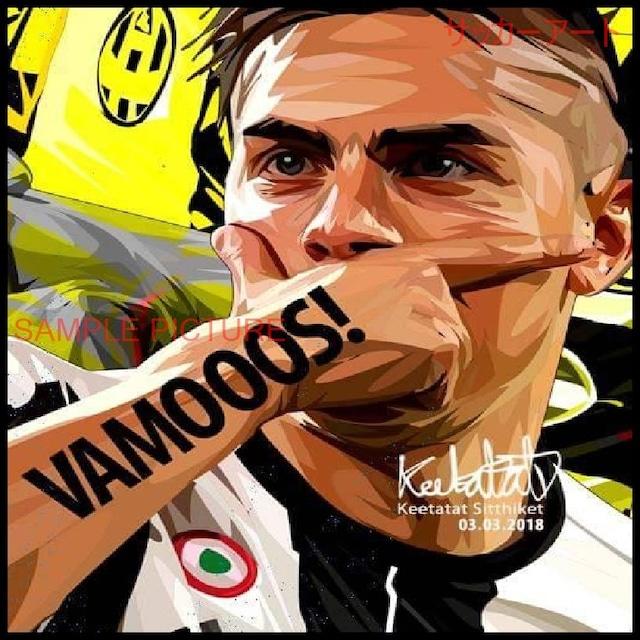 サッカーグラフィックアートパネル パウロ・ディバラ ユベントスFC 木製 壁掛け ポスター (001-169)