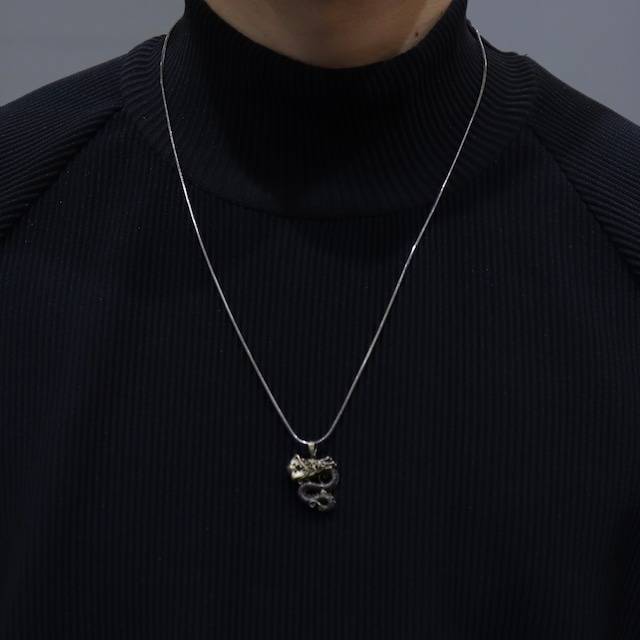 """1970s   Made In ITALY   Silver 925   Chain  Necklace  """"Dragon"""""""