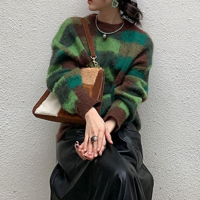 Check design knit KRE1065