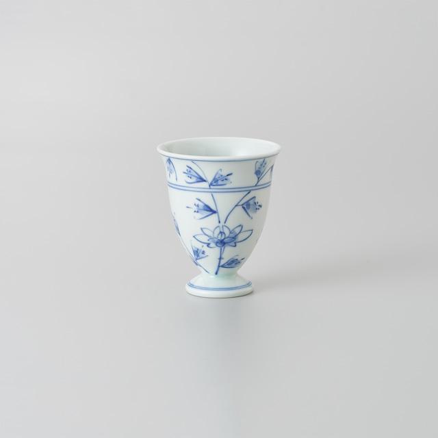 """【青花】""""Classic"""" ワインカップ(花唐草)"""