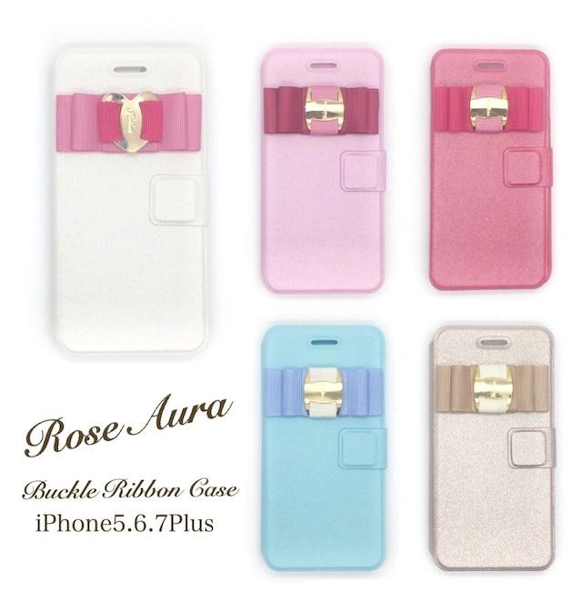 【即納】リボン付きiPhone手帳型ケース