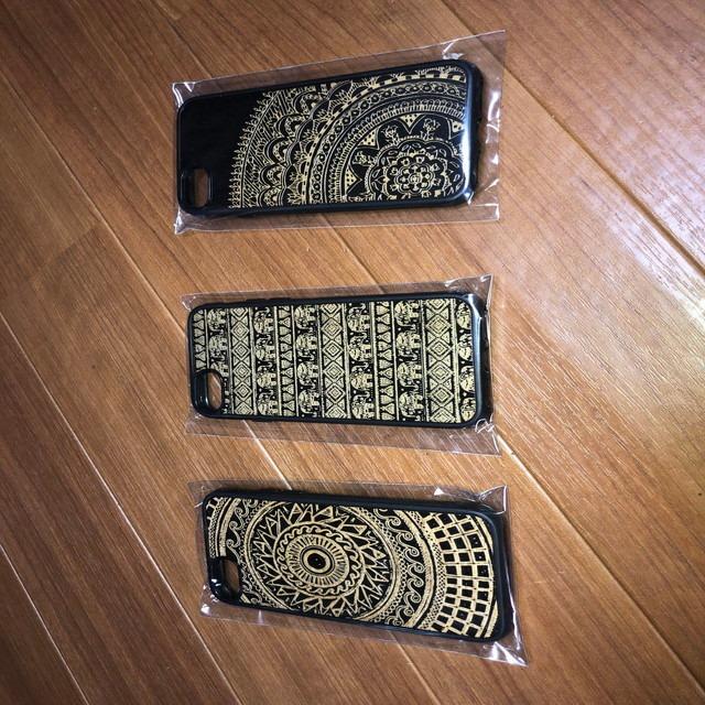 iPhone7/8用スマホケース(木彫り)
