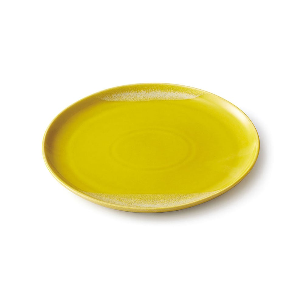 aito製作所 「Itsumo いつも」 おいしくもれる カフェプレート 皿 約23×21cm イエロー 美濃焼 262032