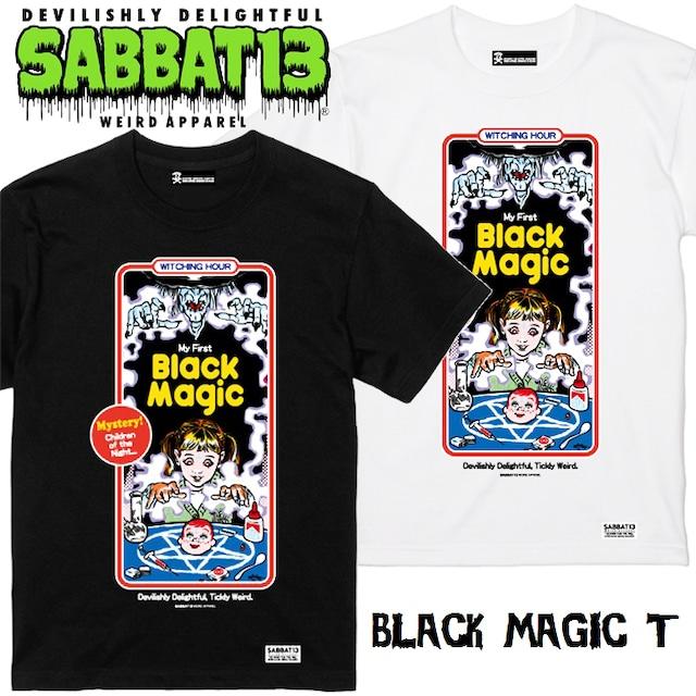 SABBAT13 / サバトサーティーン / サバト13「BLACK MAGIC T」Tシャツ 半袖 黒 白 ブラック ホワイト アメコミ スカル ドクロ メンズ レディース ロゴ ロック パンク バンド ROCK PUNK フェス ギフト ラッピング無料 ステージ衣装 Rogia