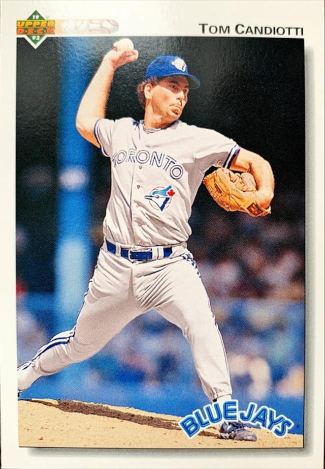 MLBカード 92UPPERDECK Tom Candiotti #447 BLUEJAYS
