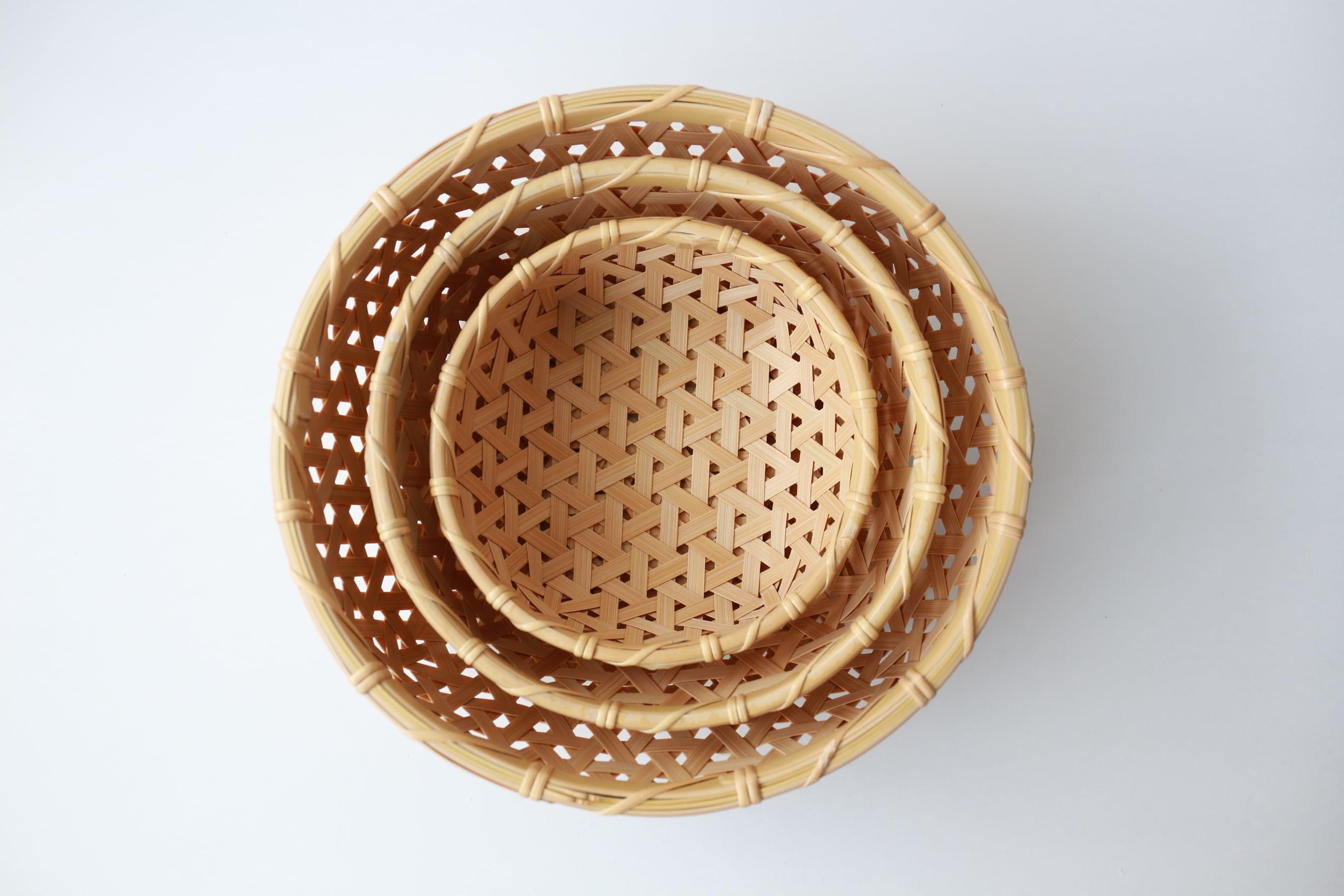 けはれ竹工房 果菜盛りカゴ 小