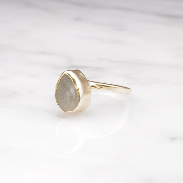 ROUGH STONE RING GOLD 015