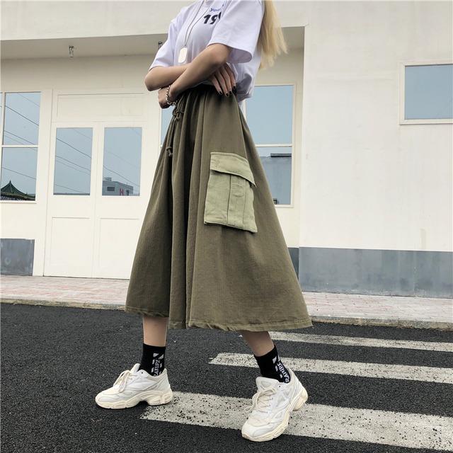 【ボトムス】ストリート系切り替え配色スカート43149675