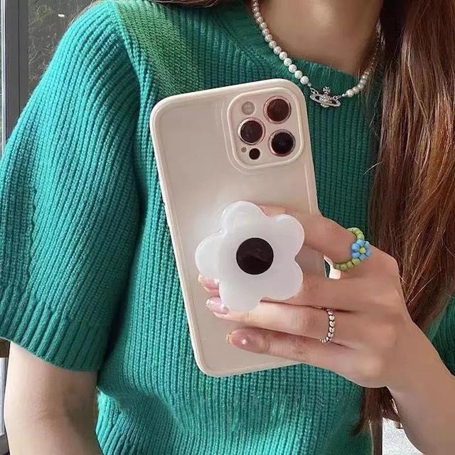 グリップ付き♪ Simple flower iphone case