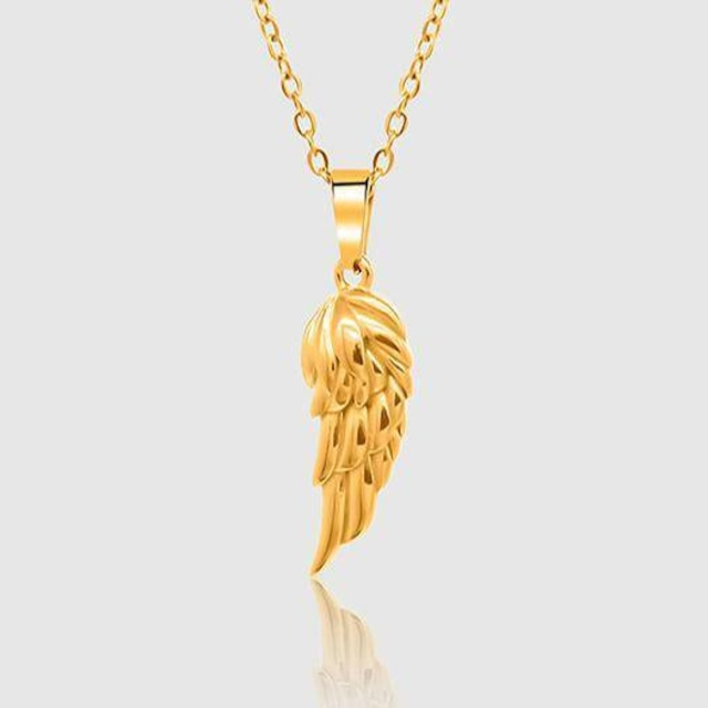 Wing Pendant Necklace【Gold】