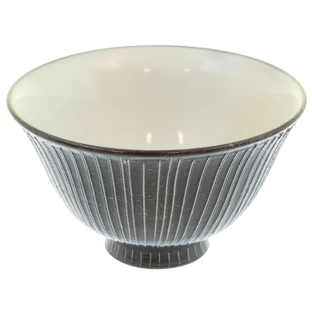 京焼 清水焼 関陶房 飯碗 茶碗 小 京さび黒十草 588910