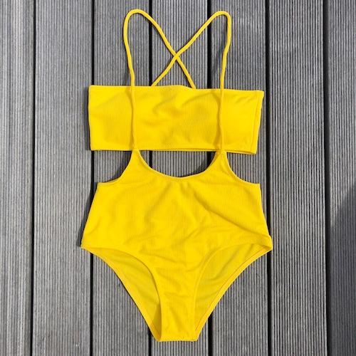 Bikini♡レイヤードバンドゥビキニ イエロー