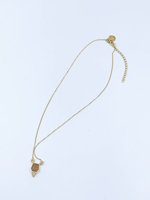 Shana Gulati 砂金練 ホワイトパール×3 五角形 925ゴールドコーティング ネックレス