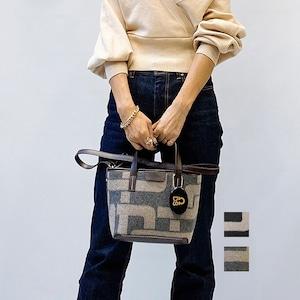DOUBLE STANDARD CLOTHING(ダブルスタンダードクロージング) オリジナルジャガードトートバッグ(SMALL )2021秋冬新作[送料無料]