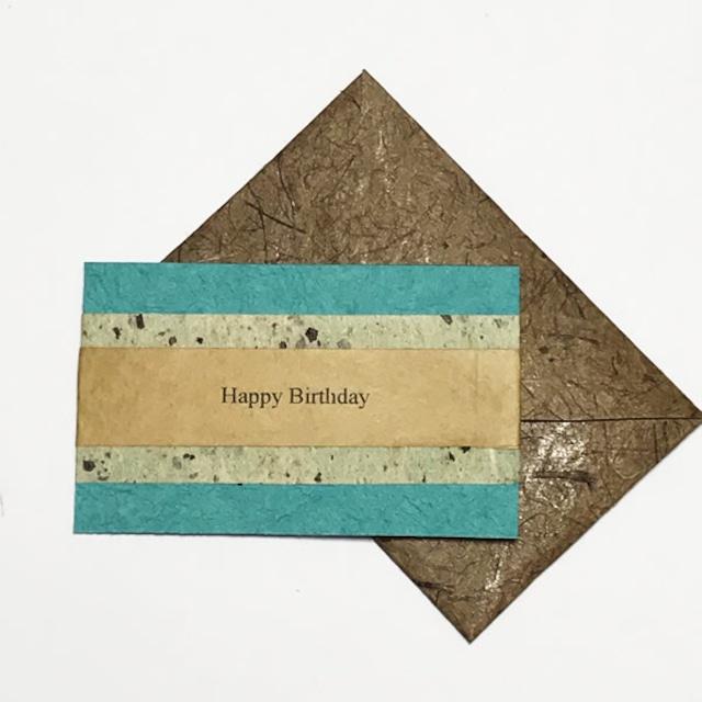 和紙の誕生日カード(Birthday025)
