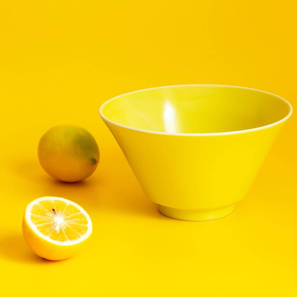 aito製作所 「シエル Ciel」きほんのうつわ どんぶり鉢 ボウル 皿 直径約17×深さ9.4cm イエロー 美濃焼 520117