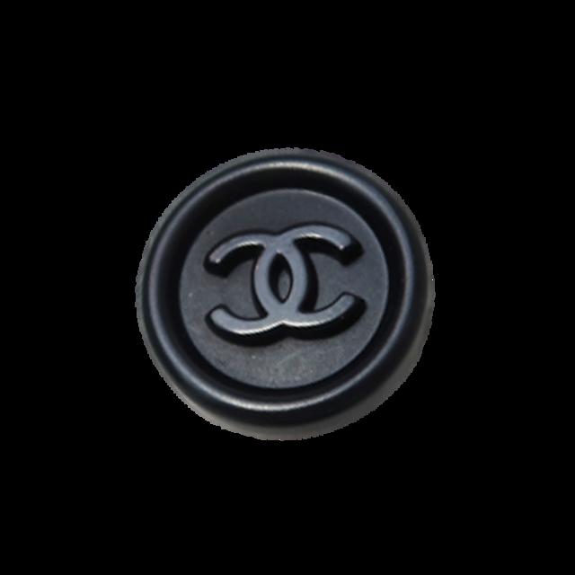 【LAST ONE SALE】ブラック ココマーク ボタン 18mm  C-20002