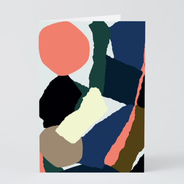 WRAP / ABSTRACT 5 ART CARD -Illustrated by Antti Kekki-