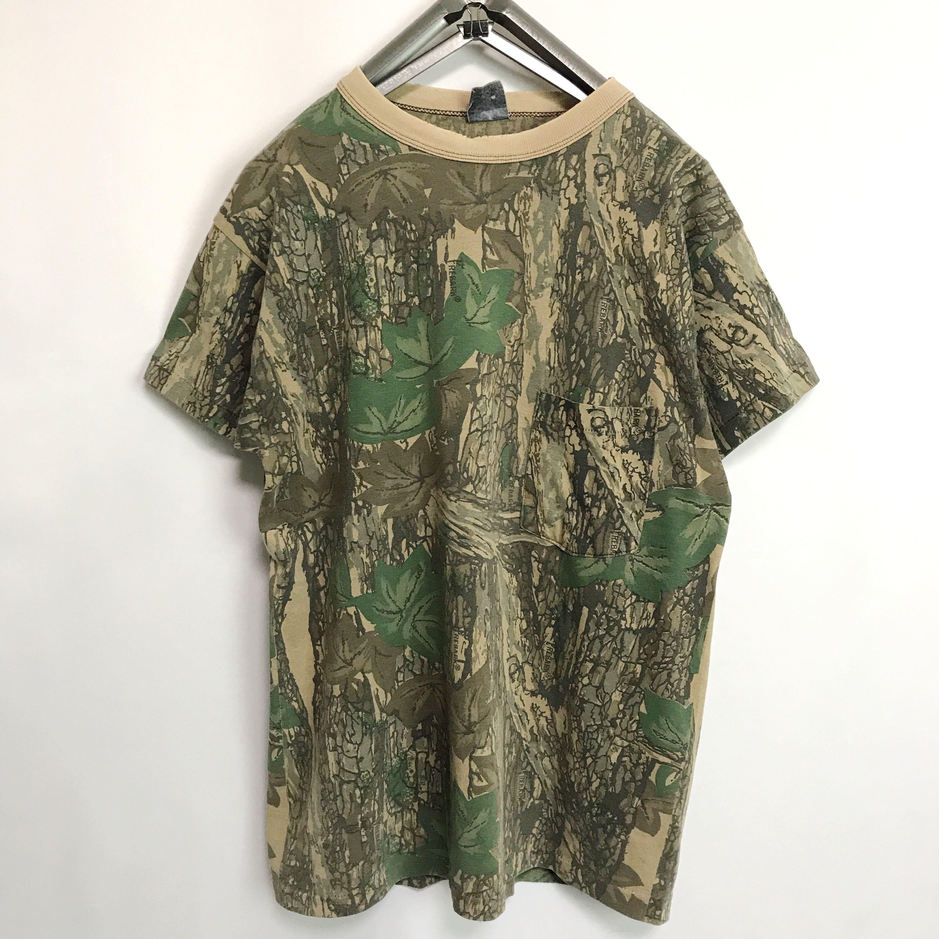 TREBARKリアルツリー 迷彩柄 ポケット Tシャツ