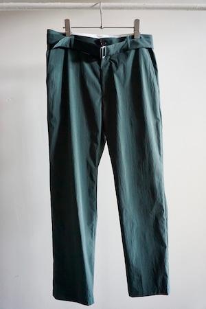 NYLON BELTED PANTS [DARK GREEN]