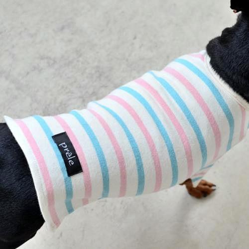 ピンク ボートネック Tシャツ