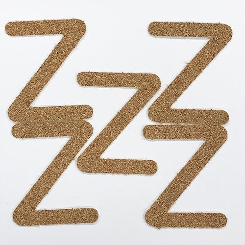 切り文字 A&Cペーパー コルク 粘着付 アルファベット「Z」