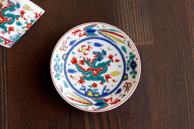【SP3K19-12】『九谷縁起豆皿コレクション』『万歴五彩龍〈MANREKIGOZAIRYU〉』 *かわいい豆皿 コレクション アクセサリー入れ 小物入れ 絵皿 九谷焼