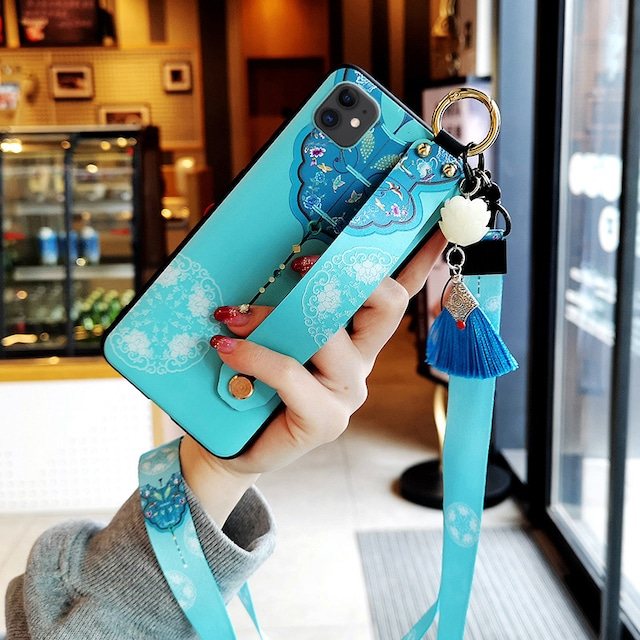 【YOUPINシリーズ】★チャイナ風携帯ケース★iPhone 12 12mini 12Pro 12ProMax オリジナル 緑 青 フリンジ