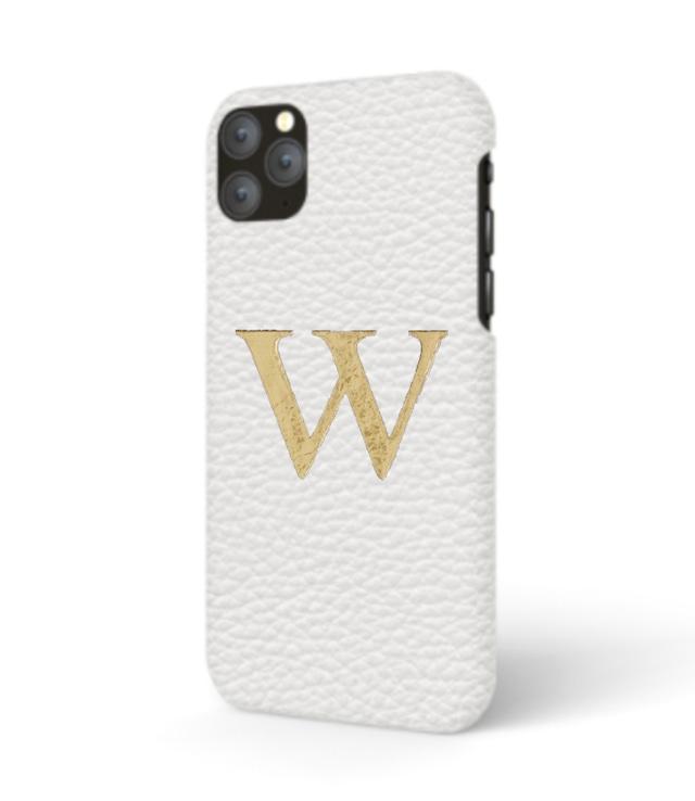iPhone Premium Shrink Leather Case (Milk White)