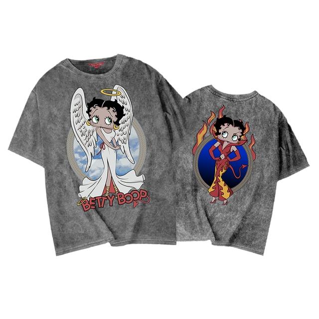 【SELECT】BETTY BOOP天使と悪魔プリントボックスシルエットTシャツ