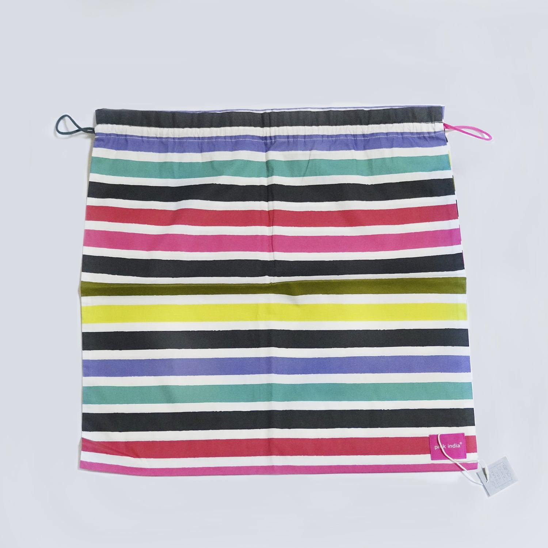 北欧デザイン 巾着 | multi stripe