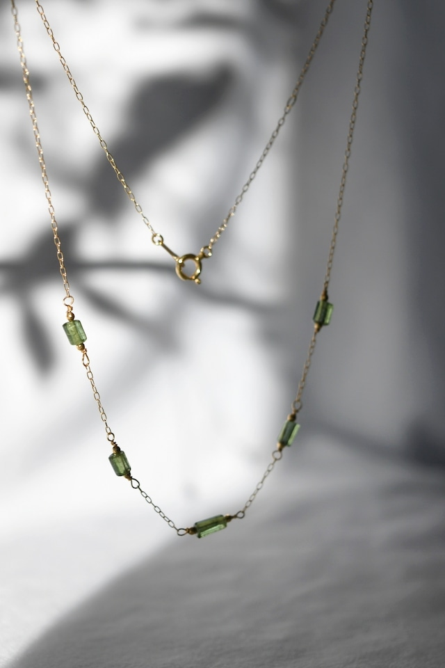 K18 Green Tourmaline Necklace 18金グリーントルマリンネックレス