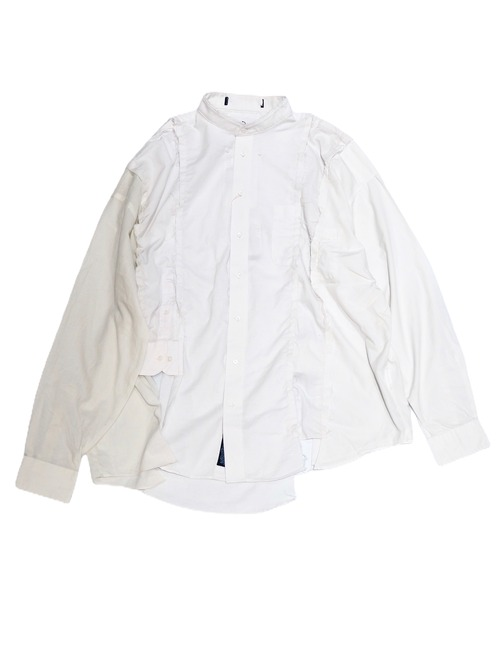 【BONUM】WHITE PATCH SHIRT