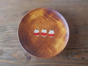 かわいい起き上がり小法師の縁起豆皿|会津漆器 食器| ほくるし堂