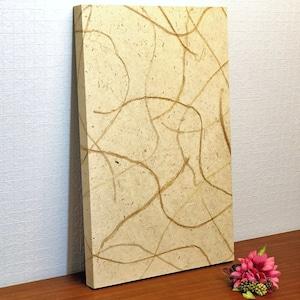 徳島産阿波和紙壁紙アートパネル 花柄 Made in Kuukan aga