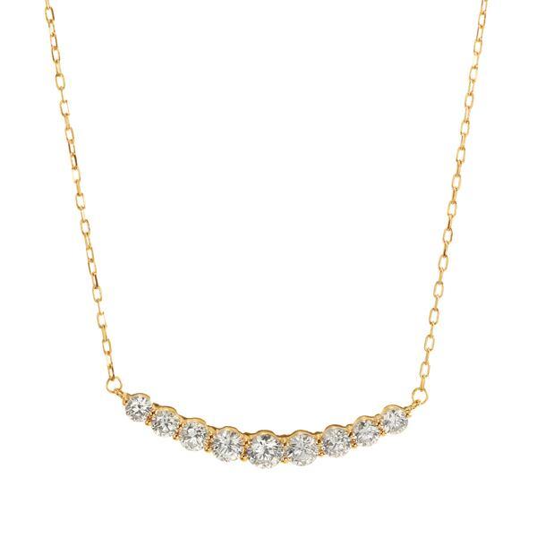 K18YGダイヤモンドネックレス 020201009198