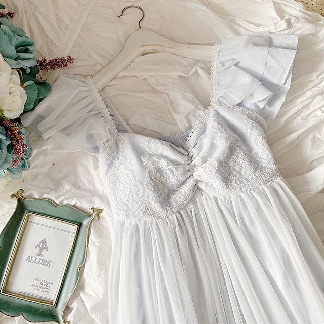 エンジェルスリーブレースナイトドレス 797