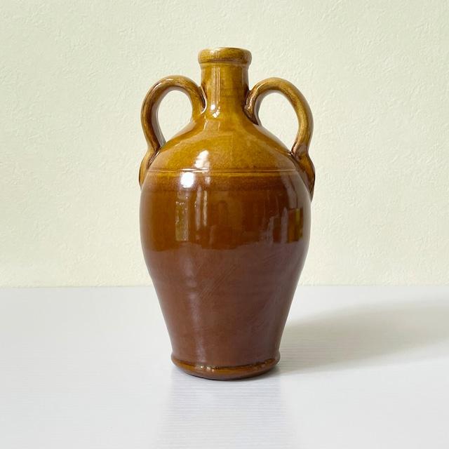 ヴィンテージ フラワーベース 花瓶 EURO ITALY製 ヨーロッパ雑貨 アンティーク雑貨