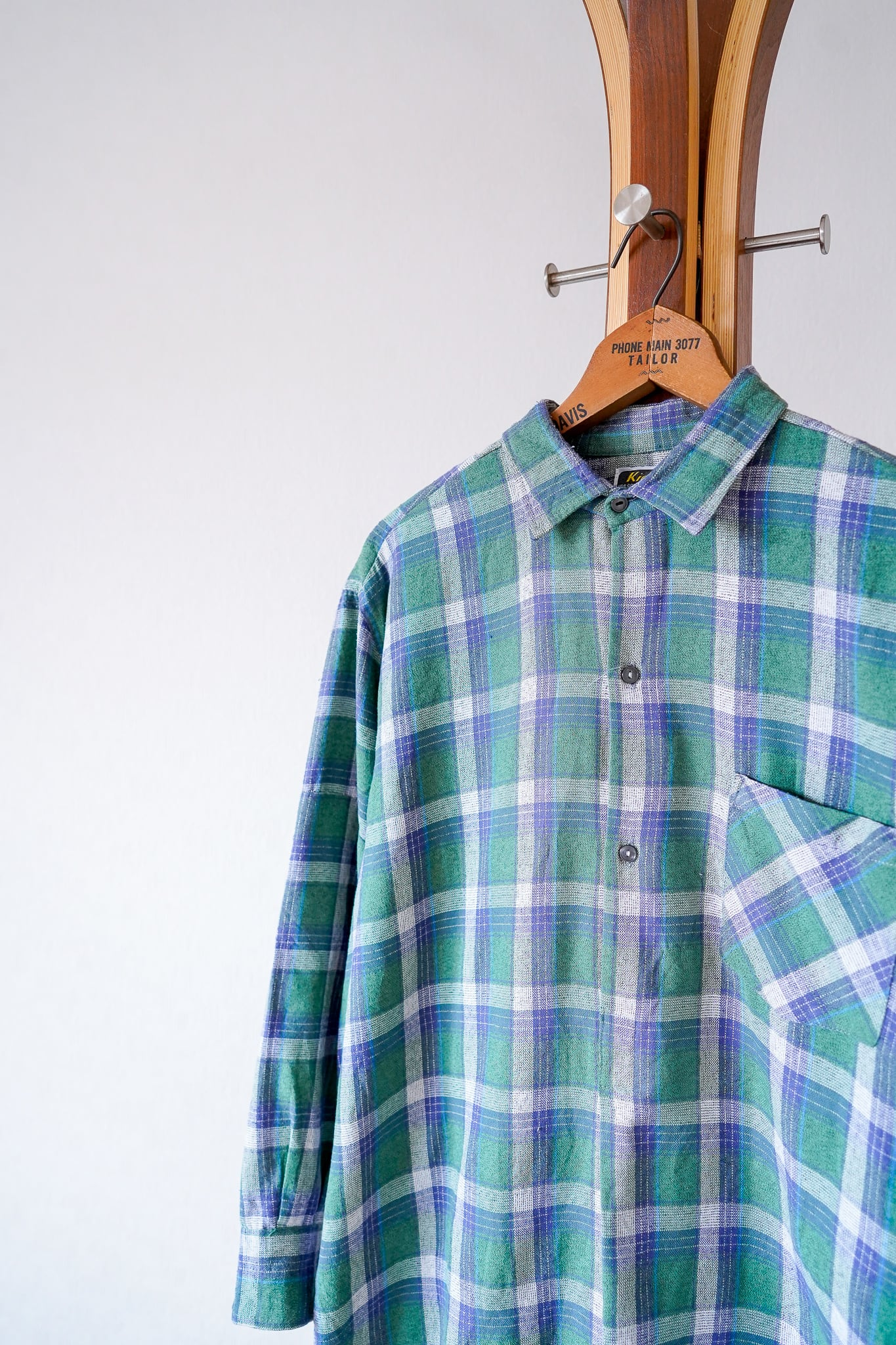 "【1960s】""French Made"" Euro Vintage Grandpa Shirts / v697"