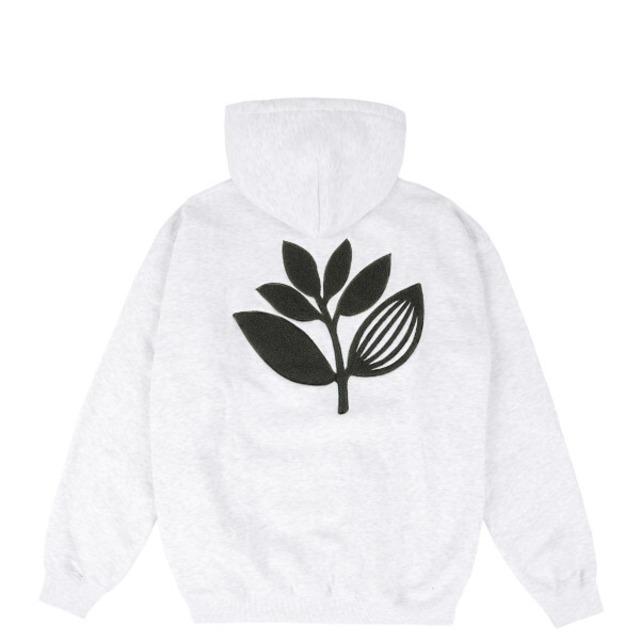 MAGENTA TERRY PLANT HOODIE - ASH