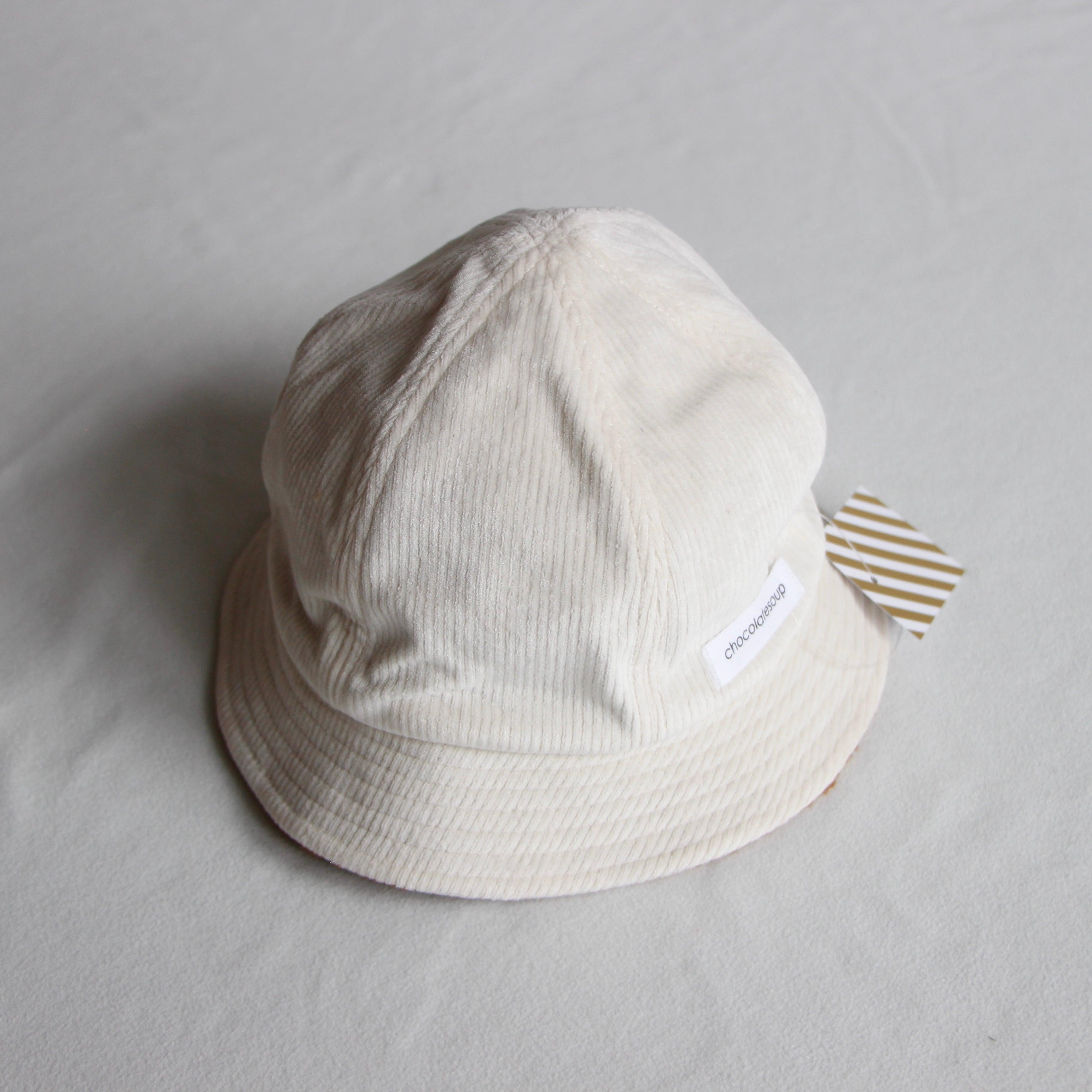 《chocolatesoup 21AW》CORDUROY × BOA REVERSIBLE HAT / BEIGE