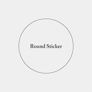Round Sticker_円形ステッカー_50mm_100枚