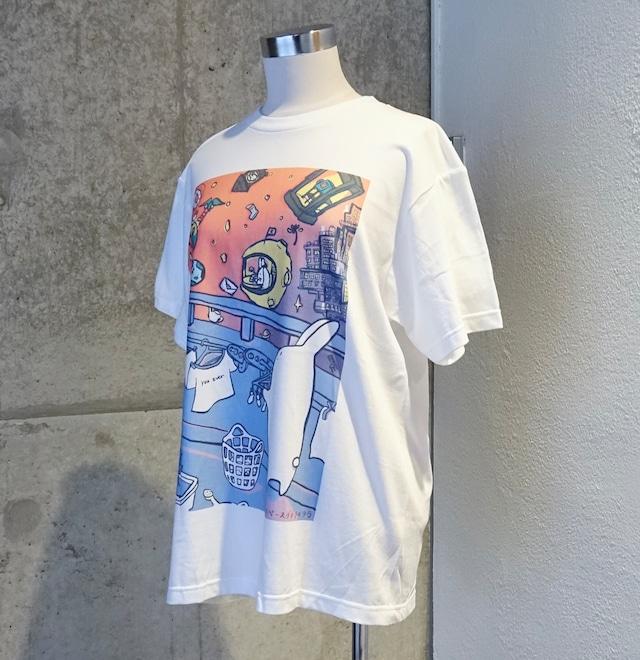 usagi Tシャツ「スペースデブリの夕方」