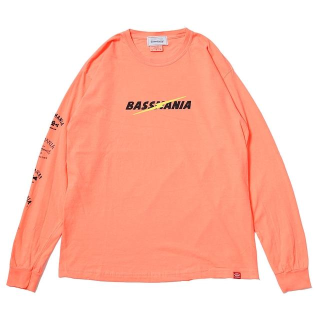 ライトニングロゴピグメントダイL/S Tシャツ [ネオンオレンジ]
