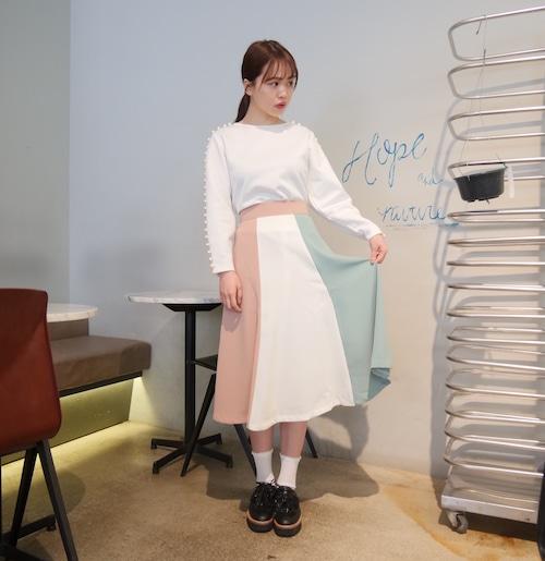 3色フレアスカート