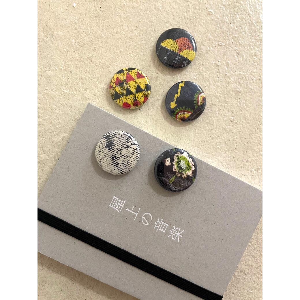【屋上の音楽】textile  (B)atch 1/ テキスタイル バッジ 1(5個入り)
