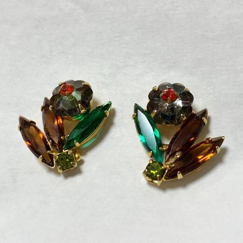 Vintage Christmas Color Bijoux Earrings