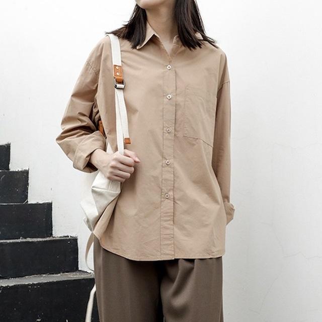 シンプルベーシックシャツ  3colors